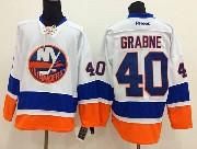 Mens reebok nhl new york islanders #40 grabne white Jersey