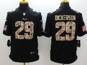 Mens Nfl St. Louis Rams #29 Dickerson Salute To Service Black Limited Jersey