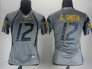 Women Ncaa Nfl West Virginia Mountaineers #12 G.smith Gray Jersey