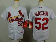 Youth Mlb St.louis Cardinals #52 Wacha White Jersey