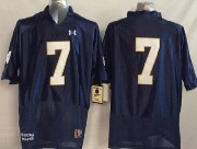 Mens Ncaa Nfl Notre Dame Fighting Irish #7 Tuitt Dark Blue (2014 New White Number) Jersey