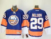 Mens reebok nhl new york islanders #29 nelson blue Jersey