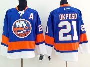 Mens reebok nhl new york islanders #21 okposo blue Jersey