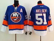 Mens reebok nhl new york islanders #51 nielsen blue Jersey