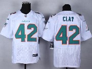 Mens Nfl Miami Dolphins #42 Clay White (2013 New) Elite Jersey