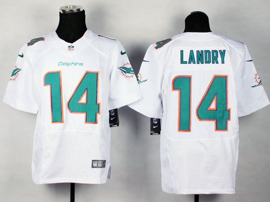 Mens Nfl Miami Dolphins #14 Landry White (2013 New) Elite Jersey