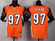 Mens Nfl Cincinnati Bengals #97 Atkins Orange Elite Jersey