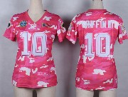 Women  Nfl Washington Redskins #10 Griffin Iii Pink Camo Game Jersey