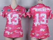Women  Nfl Miami Dolphins #13 Marino Pink Camo Game Jersey