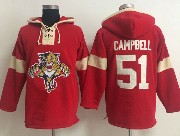 Mens nhl florida panthers #51 campbell red (new single color) hoodie Jersey
