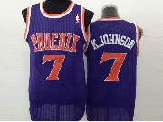 Mens Nba Phoenix Suns #7 Kjohnson Full Purple (orange Number) Jersey