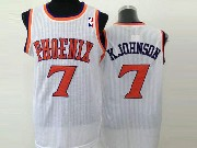 Mens Nba Phoenix Suns #7 Kjohnson White (orange Number) Jersey