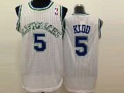 Mens Nba Dallas Mavericks #5 Kidd White (crew Neck) Jersey