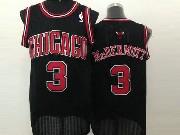 Mens Nba Chicago Bulls #3 Mcdermott (chicago) Full Black Jersey (m)