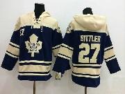 Mens nhl toronto maple leafs #27 sittler blue hoodie Jersey