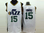 Mens Nba Utah Jazz #15 Favors White Jersey