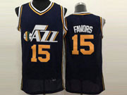 Mens Nba Utah Jazz #15 Favors Dark Blue Jersey