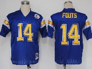 Mens nfl san diego chargers #14 fouts blue throwbacks Jersey