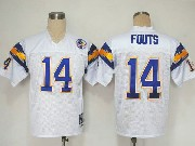 Mens nfl san diego chargers #14 fouts white throwbacks Jersey