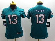 Women  Nfl Miami Dolphins #13 Marino Green (2013 New) Limited Jersey