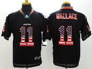 Mens Nfl Miami Dolphins #11 Wallace Black (2014 Usa Flag Fashion) Elite Jersey