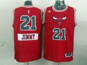 Mens Nba Chicago Bulls #21 Jimmy (2014 New Christmas) Red Jersey