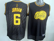 Mens Nba Los Angeles Clippers #6 Jordan Black Precious Metals Fashion Swingman Jersey
