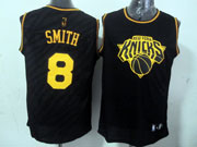 Mens Nba New York Knicks #8 Smith Black Precious Metals Fashion Swingman Jersey