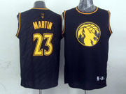 Mens Nba Minnesota Timberwolves #23 Martin Black Precious Metals Fashion Swingman Jersey