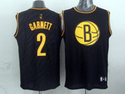 Mens Nba Brooklyn Nets #2 Garnett Black Precious Metals Fashion Swingman Jersey