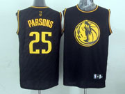 Mens Nba Dallas Mavericks #25 Parsons Black Precious Metals Fashion Swingman Jersey