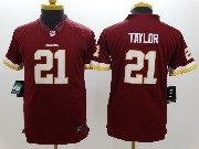 Youth Nfl Washington Redskins #21 Taylor Red Limited Jersey