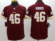 Youth Nfl Washington Redskins #46 Morris Red Limited Jersey