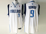 Mens Nba Dallas Mavericks #9 Rondo White Jersey