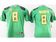 Youth Ncaa Nfl Oregon Ducks #8 Mariota Green (yellow Number) Limited Jersey