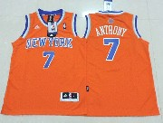 youth nba New York Knicks #7 Carmelo Anthony orange jersey