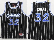 Youth Nba Orlando Magic #32 Oneal Black Stripe Jersey