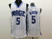 Mens Nba Orlando Magic #5 Oladipo White Stripe Jersey
