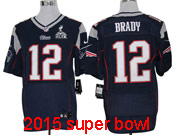mens nfl New England Patriots #12 Tom Brady blue elite (2015 super bowl) jersey