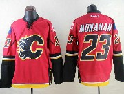 Mens Reebok Nhl Calgary Flames #23 Monahan Red Jersey
