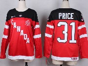 Women Nhl Team Canada #31 Price Red 2014 100th Anniversary White Jersey