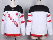 Women Nhl Team Canada (blank) White 2014 100th Anniversary White Jersey