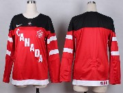 Women Nhl Team Canada (blank) Red 2014 100th Anniversary White Jersey