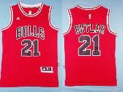 Mens Nba Chicago Bulls #21 Butler (bulls) Red Jersey (p)