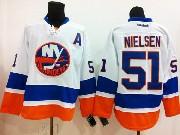 Mens reebok nhl new york islanders #51 nielsen white Jersey