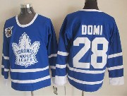 Mens nhl toronto maple leafs #28 domi blue 75th throwbacks Jersey