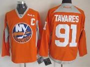 Mens reebok nhl new york islanders #91 tavares orange (2015 new train) Jersey