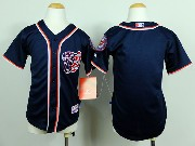 youth mlb washington nationals (blank) blue Jersey