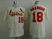 Mens mlb st.louis cardinals #18 shannon cream throwbacks Jersey