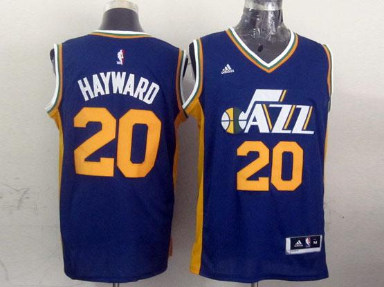Mens Nba Utah Jazz #20 Hayward Purple Revolution 30 Jersey (p)